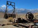 abandoned mine with view of the eastern sierras, photo by Dan Schubarth