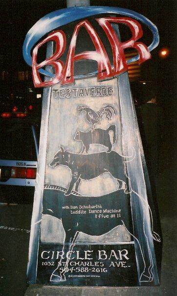 TESTAVERDE (pre-Dan) and DAN SCHUBARTH'S LUDDITE DANCE MACHINE at The Circle Bar, New Orleans, Feb. 18, 2005.