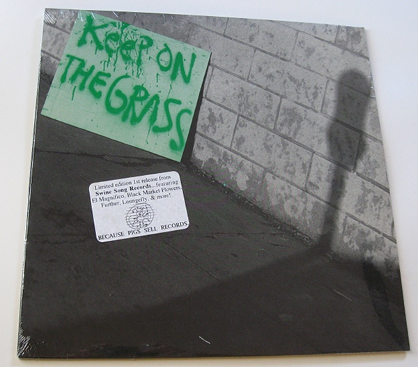 """""""Keep On The Grass"""" compilation record 1992 - front"""