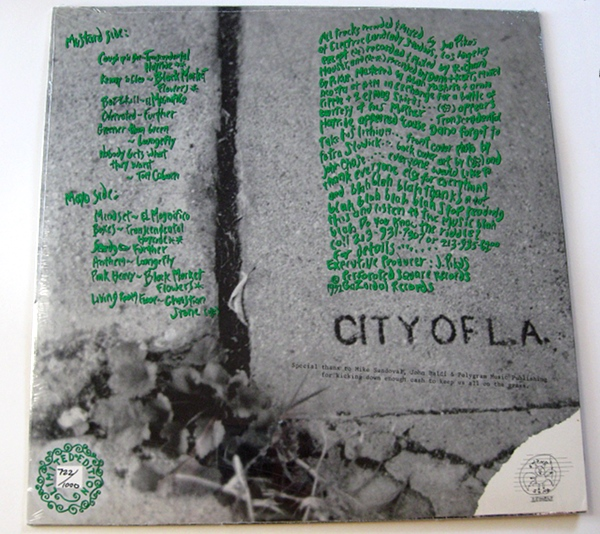 """""""Keep On The Grass"""" compilation record 1992 - back"""