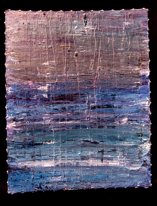 """untitled acrylic on canvas and galvanized steel  -  30 1/2"""" x 24 1/2""""  -  1993"""