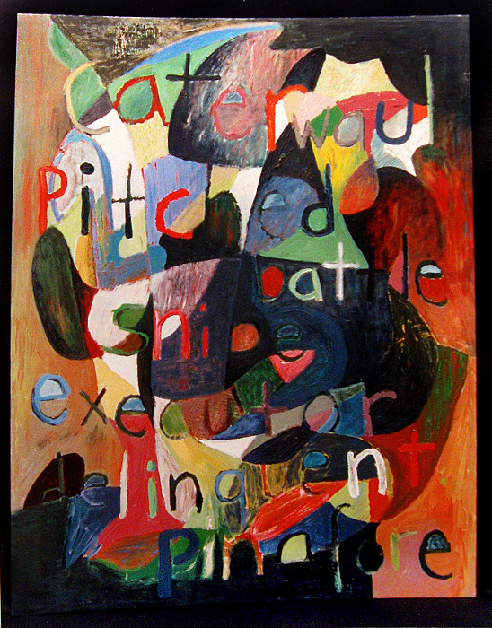 """untitled (caterwaul) acrylic on canvas  -  55"""" x 43""""  -  1993"""