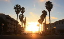 dramatic sunset in Redondo Beach, CA