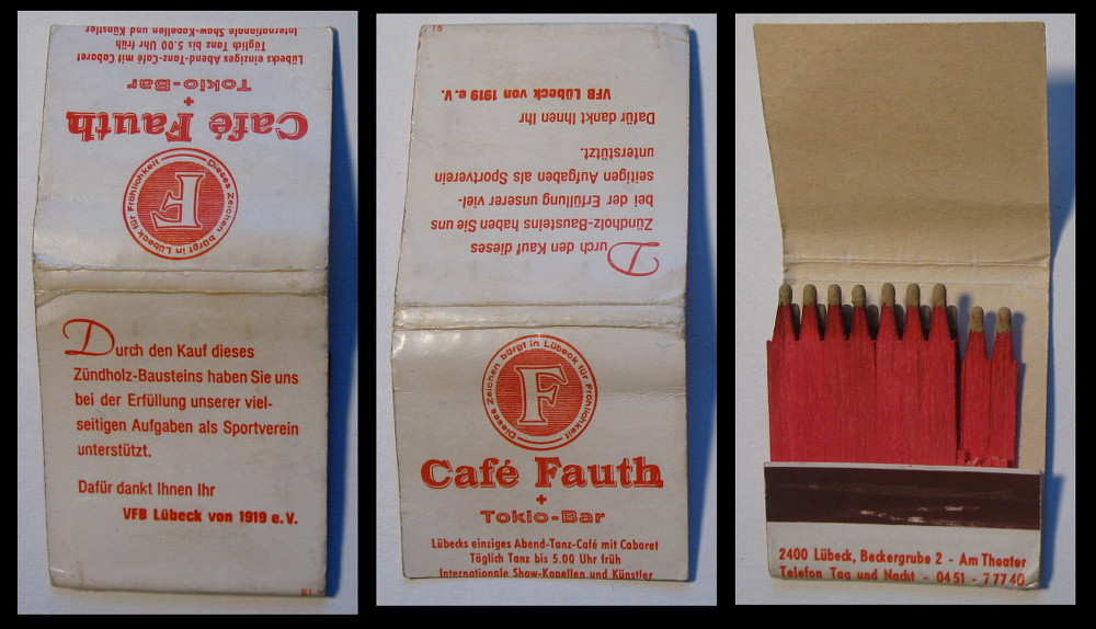 Cafe-Fauth matchbook