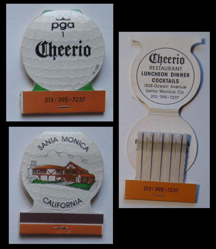 Cheerio matchbook