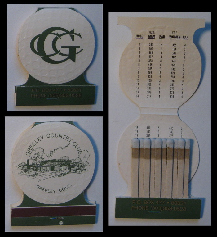 Greely-Country-Club matchbook