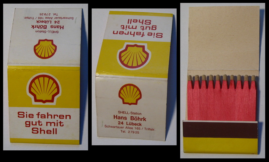 Hans-Bohrk-Shell matchbook