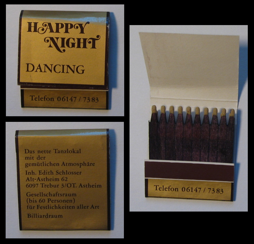 Happy-Night matchbook