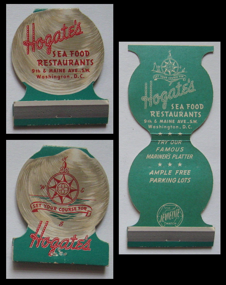 Hogate's matchbook