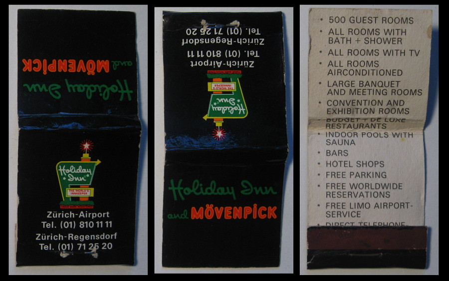 Holiday-Inn-Zurich matchbook