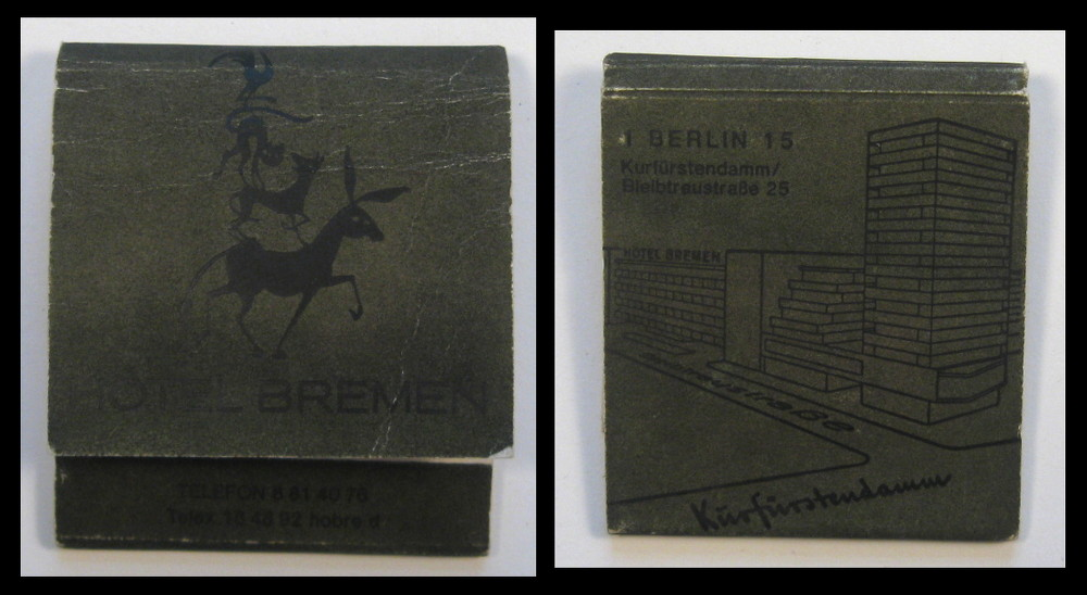 Hotel-Bremen matchbook