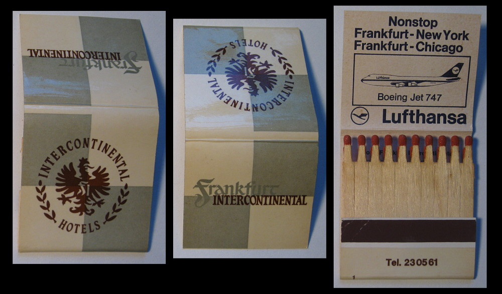 Intercontinental-Frankfurt matchbook