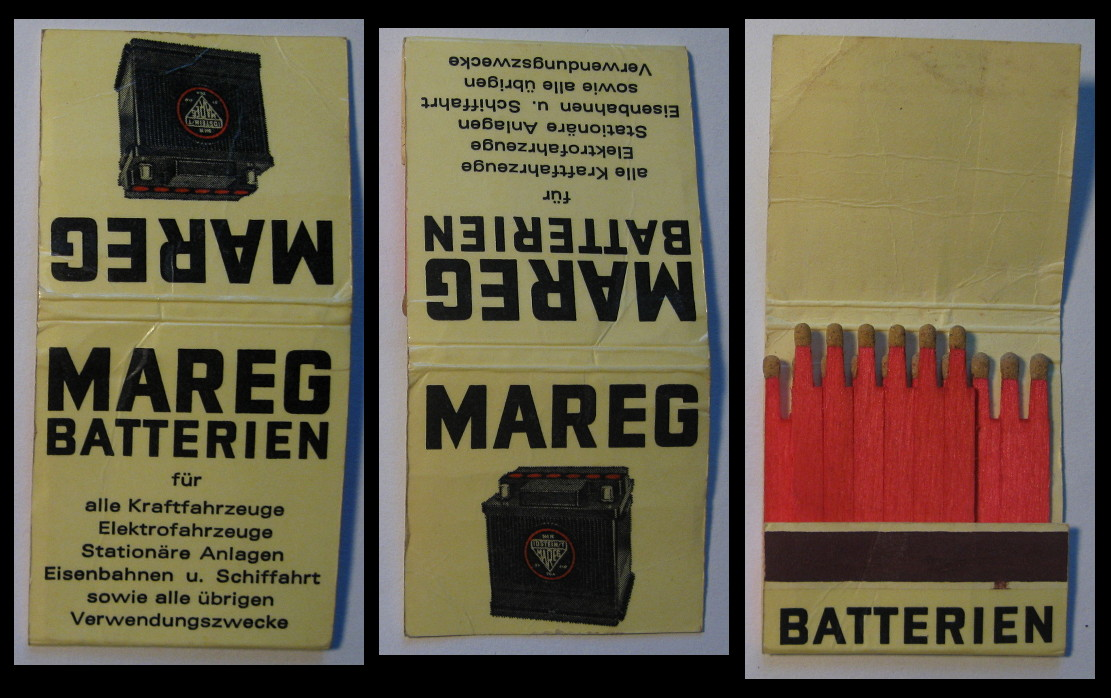 Mareg-Batterien matchbook