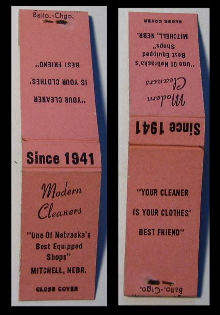 Modern-Cleaners matchbook