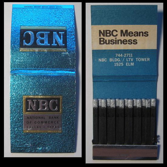 National-Bank-of-Commerce matchbook