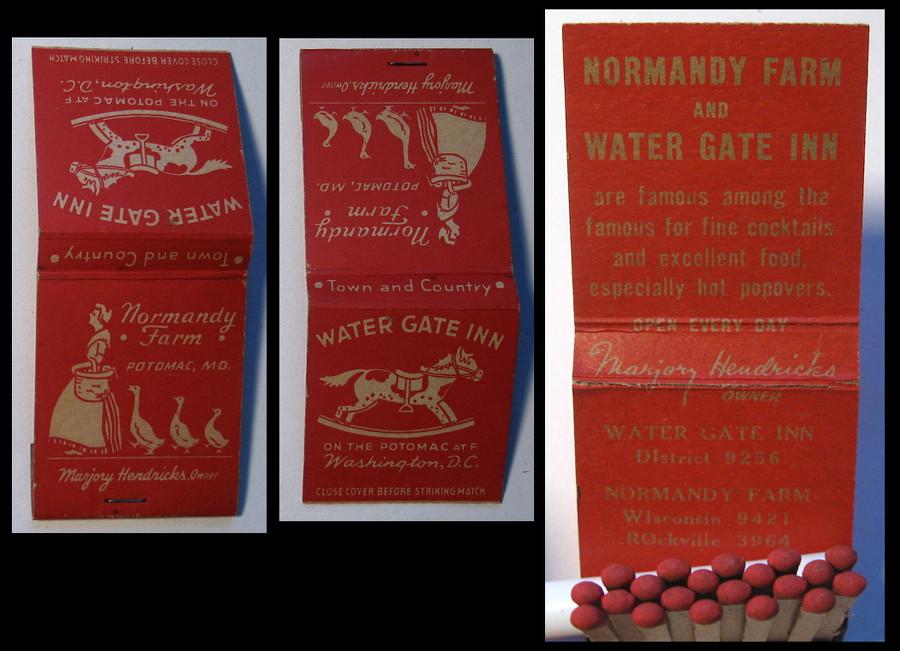 Normandy-Farm-Watergate-Inn matchbook