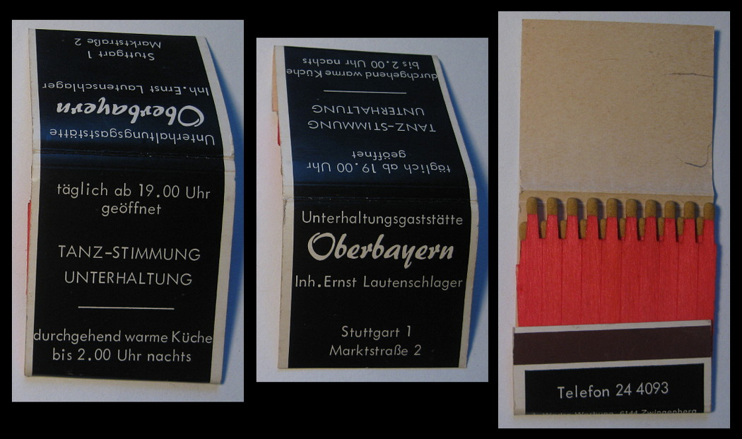 Oberbayern matchbook