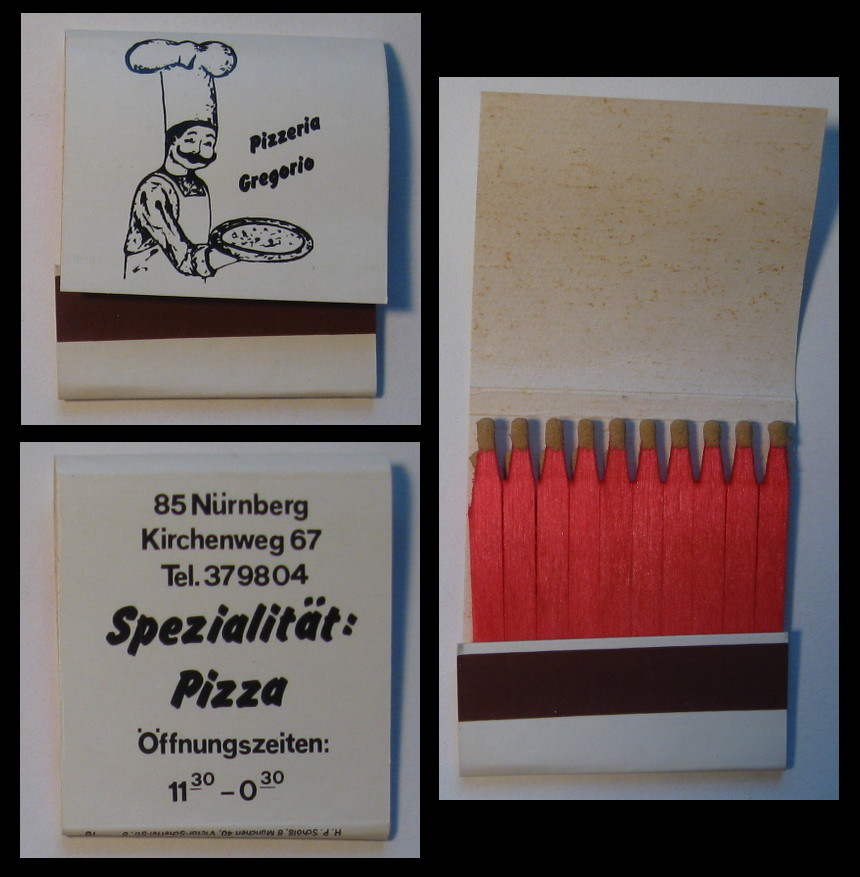 Pizzeria-Gregorio matchbook