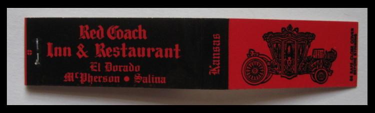 Red-Coach matchbook
