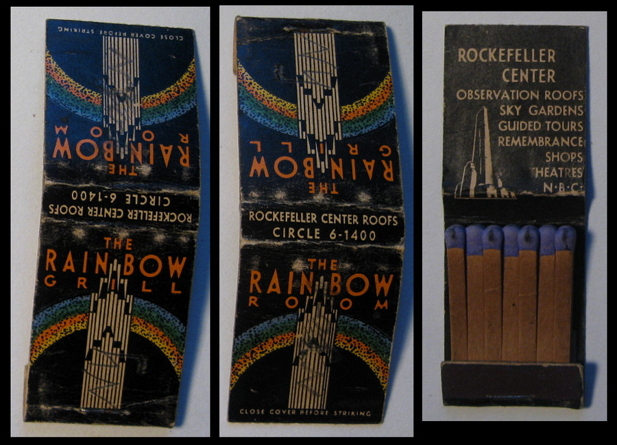 Rockefeller-Center-Roofs matchbook