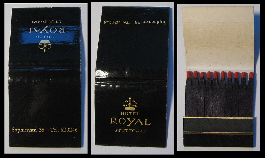 Royal-Hotel-Stuttgart matchbook