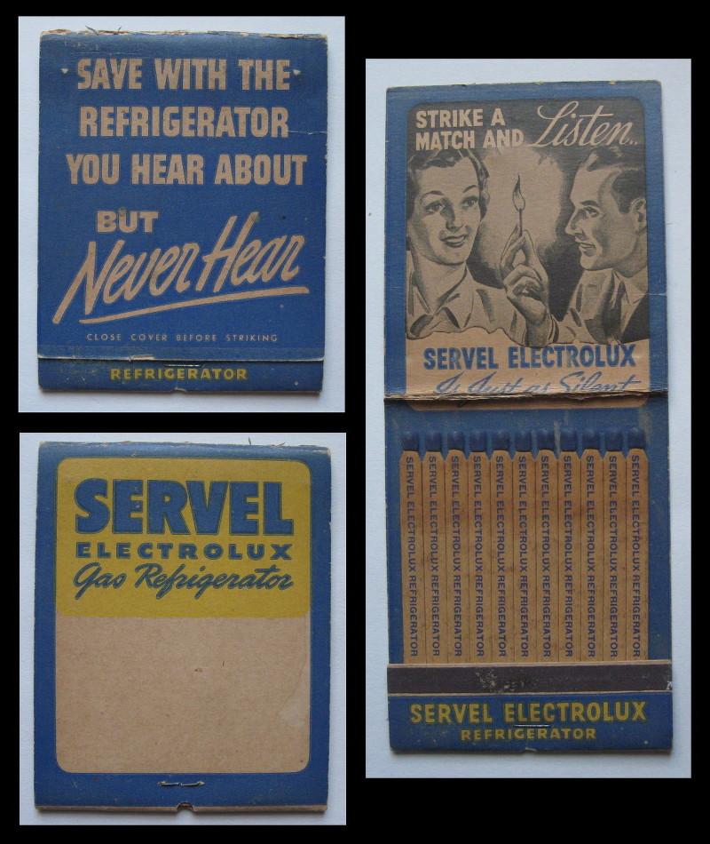 Servel-Electrolux matchbook