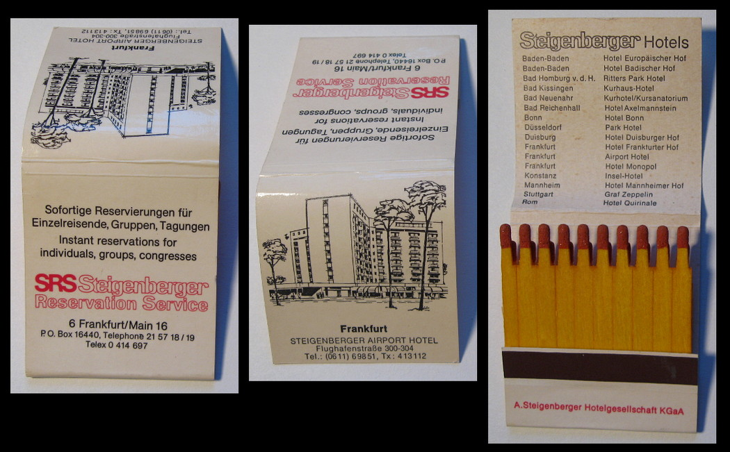 Steigenberger-Airport-Hotel matchbook