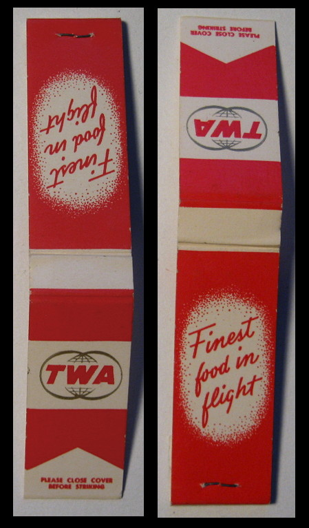 TWA-red matchbook