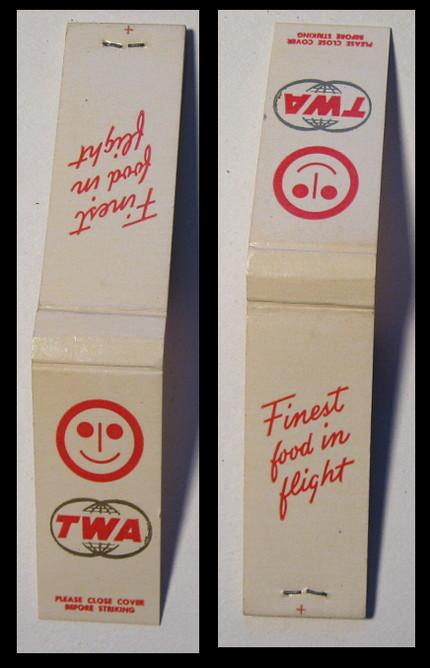 TWA-white matchbook