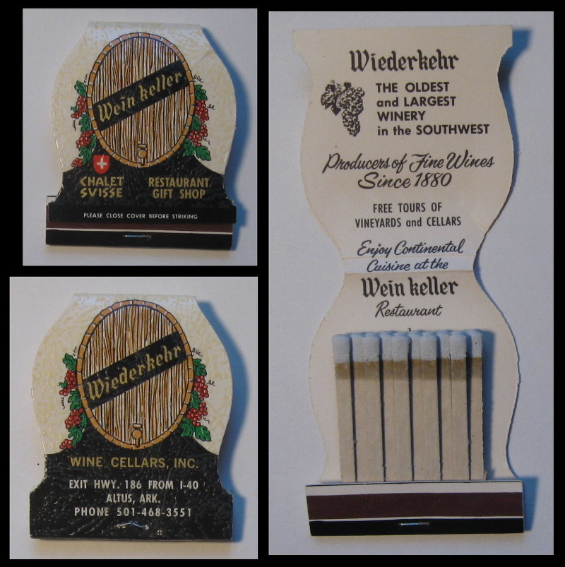 Wein-Keller matchbook