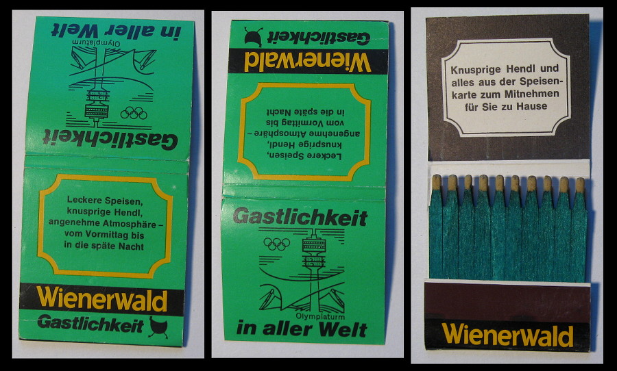 Weinerwald matchbook