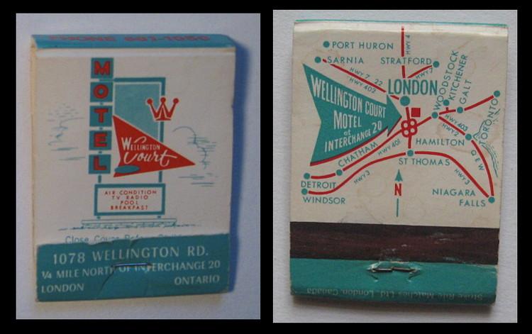 Wellington-Court-Motel matchbook