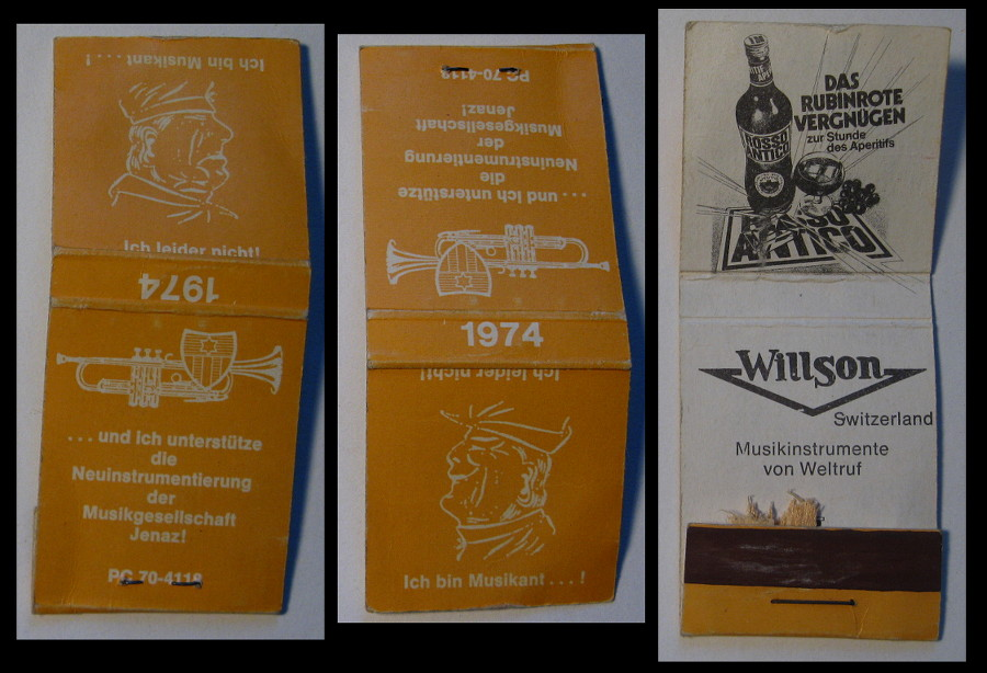 Willson matchbook